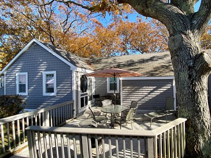 Hyannis Cape Cod vacation rental - Spacious shaded patio with charcoal