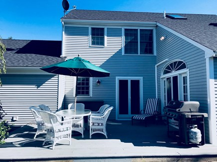 East Orleans - Barley Neck Cape Cod vacation rental - Wicker dining set and new Weber grill