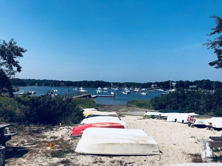 East Orleans - Barley Neck Cape Cod vacation rental - Enjoy a swim off the dock at Meeting House Pond