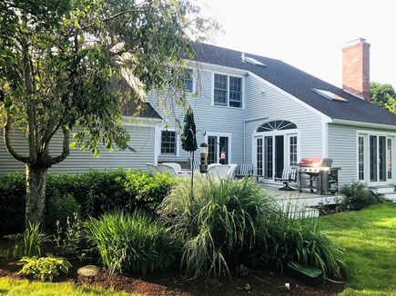 East Orleans - Barley Neck Cape Cod vacation rental - Private backyard, deck, gardens; new 4 burner Weber grill