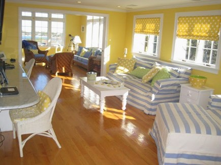 North Chatham Cape Cod vacation rental - Upstairs living room/den/sunroom