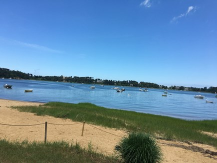 North Chatham Cape Cod vacation rental - Private beach on Crow's Pond just steps away