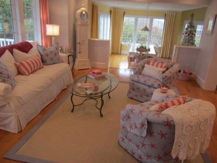North Chatham Cape Cod vacation rental - Living room open floor plan throughout.