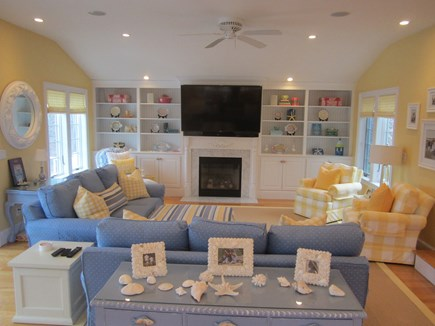 North Chatham Cape Cod vacation rental - Family room- stunning decorating throughout.