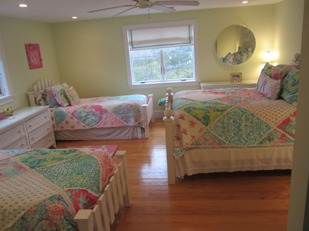 North Chatham Cape Cod vacation rental - 2nd floor bedroom. Queen with 2 twins. Wonderful for children!