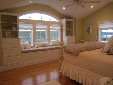 North Chatham Cape Cod vacation rental - King master bedroom with water views and breathtaking sunsets!