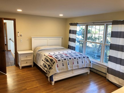 East Falmouth Cape Cod vacation rental - 2nd fl bed rm with attached bunk bed rm looking onto the water