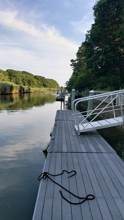East Falmouth Cape Cod vacation rental - Private dock. jump in your boat and cruise to the Vineyard