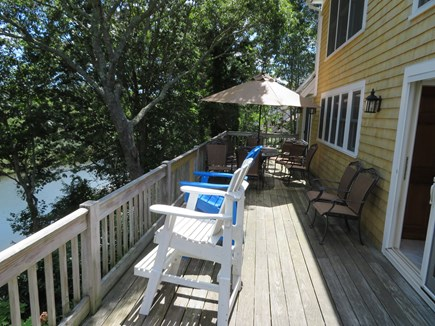 East Falmouth Cape Cod vacation rental - Upper deck space - 60 ft overlooking the river. 6' gas grill.
