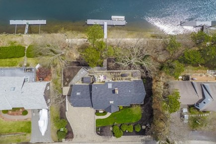 East Falmouth Cape Cod vacation rental - Aerial from straight above. 2 massive decks. lots of parking