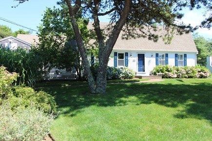 Harwich Port Cape Cod vacation rental - Front of house. Nicely landscaped with irrigation throughout.