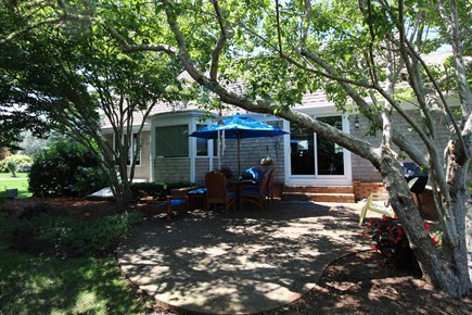 Harwich Port Cape Cod vacation rental - Large patio in back yard