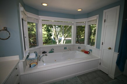 Harwich Port Cape Cod vacation rental - Master bathroom with jacuzzi hot tub