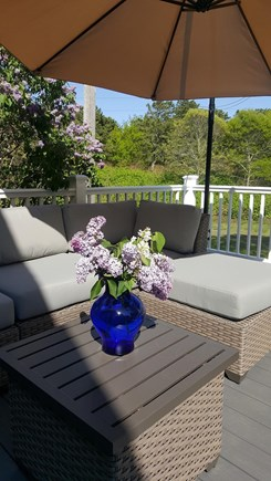 Eastham Cape Cod vacation rental - Deck seating