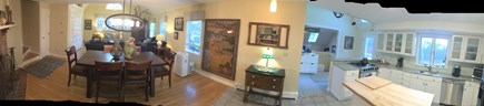 Eastham Cape Cod vacation rental - Open Floor PlanLiving room, dinning room and kitchen A/C unit