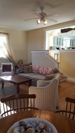 Eastham Cape Cod vacation rental - Family room with dinning table and smart TV