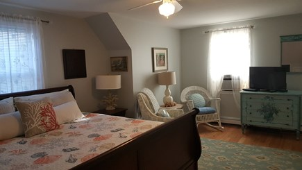 Eastham Cape Cod vacation rental - 2nd floor Master bedroom with A/C unit and TV