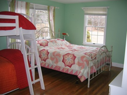 Eastham Cape Cod vacation rental - 1 of 2 first floor bedrooms. Queen and bunk beds.