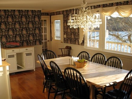 Eastham Cape Cod vacation rental - Dining room no longer has this wallpaper.