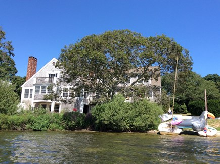 Eastham Cape Cod vacation rental - Looking from the pond toward back of house.
