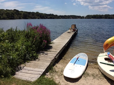 Eastham Cape Cod vacation rental - The dock, backyard.