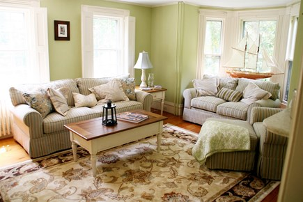 Barnstable Village Cape Cod vacation rental - Formal living room with pull out queen couch and flat screen tv
