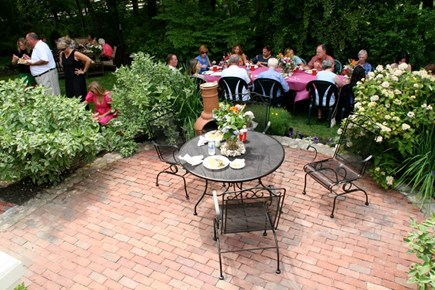 Barnstable Village Cape Cod vacation rental - Outdoor patio with Chimnea for al fresco dining