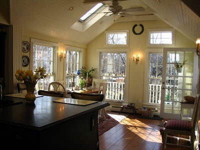 Barnstable Village Cape Cod vacation rental - Vaulted Sun room attached to kitchen