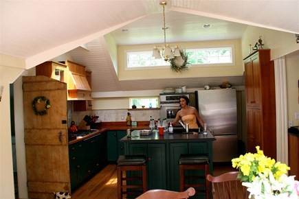 Barnstable Village Cape Cod vacation rental - Vaulted custom kitchen with stainless appliances