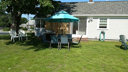 Dennisport Cape Cod vacation rental - Hello to summer with outdoor shower, grill & dining set
