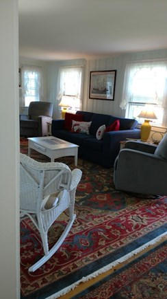 Dennisport Cape Cod vacation rental - Queen sleep sofa and reclining chairs
