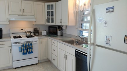 Dennisport Cape Cod vacation rental - Gas stove, microwave, dishwasher, and K-cup coffee maker