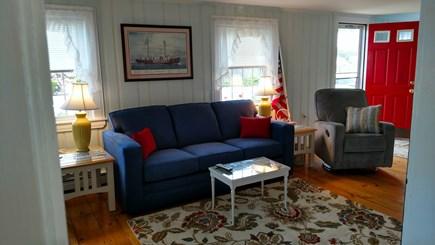 Dennisport Cape Cod vacation rental - Cheerful Living Room with a Queen Sleep Sofa