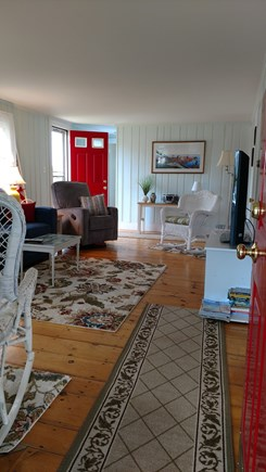 Dennisport Cape Cod vacation rental - Living Room with Cable TV and wifi internet