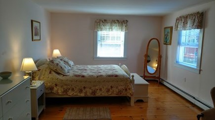 Dennisport Cape Cod vacation rental - Master Bedroom- Queen bed with large his closets & Ensuite bath