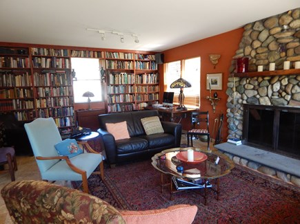 Truro Cape Cod vacation rental - Living Room/Library