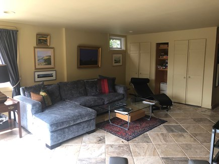 Truro Cape Cod vacation rental - Lower Level Sitting and TV room