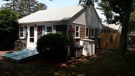 Harwich Port Cape Cod vacation rental - Yard and Outdoor Shower on right