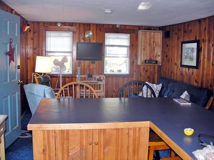 Harwich Port Cape Cod vacation rental - Living area and top of bar (from kitchen)