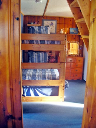 Harwich Port Cape Cod vacation rental - Bunk room.  To the right is second fridge, Bath 2 and w/d.