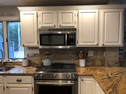 Brewster Cape Cod vacation rental - Modern kitchen with high end gas range; fully stocked
