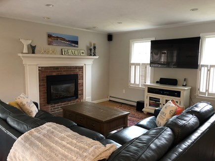Brewster Cape Cod vacation rental - Large comfy living room with gas fireplace