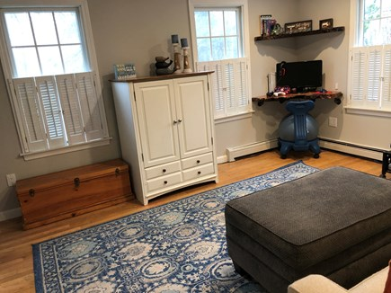 Brewster Cape Cod vacation rental - TV room/Office with double pull out couch for extra guests