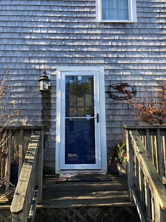 Brewster Cape Cod vacation rental - Side entrance with keypad lock