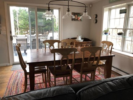 Brewster Cape Cod vacation rental - Dining room with slider out to back yard and deck