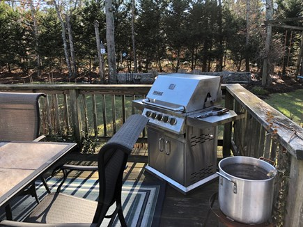 Brewster Cape Cod vacation rental - Large deck with hard piped gas grill and large table