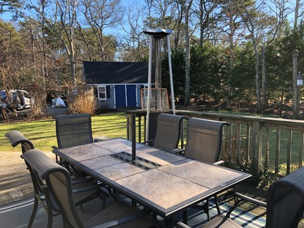 Brewster Cape Cod vacation rental - Outdoor deck with space heater for cooler night