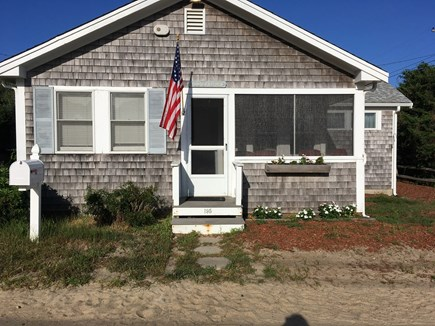 Brewster Cape Cod vacation rental - View of cottage from the road.  Cozy screened in porch.