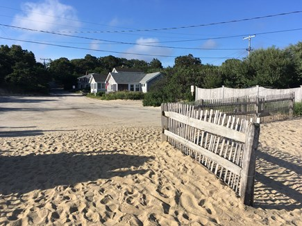 Brewster Cape Cod vacation rental - View of cottage from Ellis Landing Beach just steps away!
