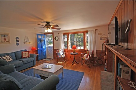 West Dennis Cape Cod vacation rental - Spacious, bright living room includes sofa bed